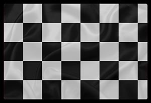 Le drapeau à damier