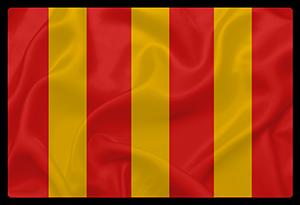 Le drapeau à bandes jaunes et rouges