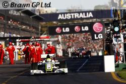LG est très repésentée sur les circuits F1 comme le montre cette photo prise au début de la saison, en Australie!