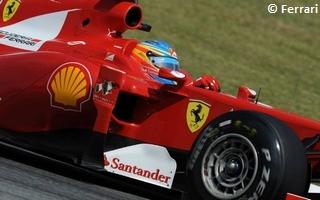 (c) Ferrari : Fernando Alonso de nouveau aux avant-postes juste devant les Red Bull