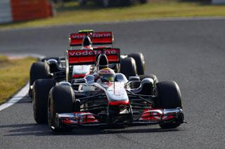 © McLaren/ Tir groupé pour Hamilton et Button