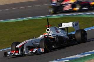 (c) Sutton / Sauber - Le pilote mexicain de l'équipe suisse