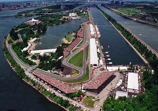 L'atypique circuit Gilles Villeneuve et ses virage n°1&2 en premier plan