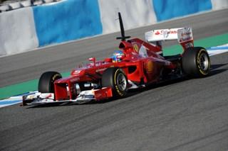 © Ferrari - Alonso dans sa F2012 à Jerez