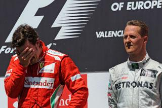© Ferrari / La victoire d'Alonso, le podium de Schumacher