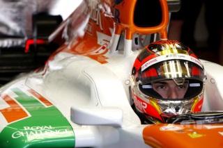 © Force India - Jules change de couleur, mais pas de position au tableau d'affichage