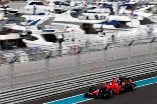 © LAT - La Marussia plutôt performante à Abu Dhabi