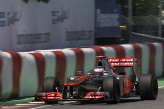 © McLaren / Button sur la McLaren à Montréal