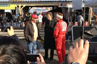 Niki Lauda, en discussion avec Alexandra Maria Lara et Daniel Bruhl