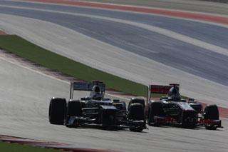 © Sauber / Kobayashi et Button à Austin