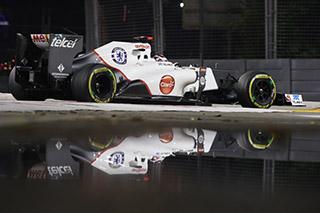© Sauber - La C31 ne brille pas à Singapour...