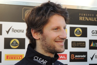 © Fan-F1 - Romain Grosjean a le sourire à l'issue des qualifications