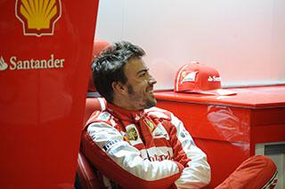 © Ferrari - Alonso tout sourire après son nouveau podium