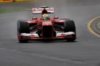 © Ferrari - Felipe Massa n'a pas beaucoup tourné, aujourd'hui, devant son public