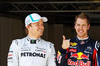 © GEPA - Vettel s'élancera devant Rosberg demain
