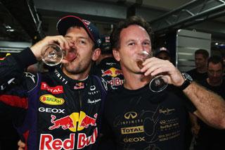 © Getty / Horner peut célébrer le titre de Red Bull avec son poulain !