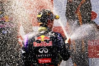 © Getty - Nouvelle douche au champagne pour Sebastian Vettel