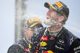 © Getty - Champagne pour Webber à Interlagos !