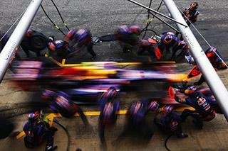 © Getty - Rapide dans les stands et rapide sur la piste, la Red Bull RB9