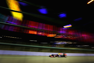 © Getty Images - Vettel, alone in the dark !