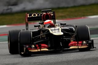 © LAT - Grosjean s'est montré le plus rapide à Barcelone