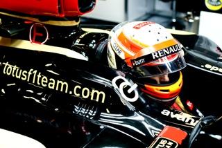 © LAT - Grosjean a placé sa Lotus en tête d'une séance pluvieuse