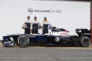 © LAT - La FW35 et ses pilotes ce matin à Barcelone