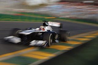 © LAT - Maldonado n'a pas pu voir l'arrivée à Melbourne suite à une sortie de piste