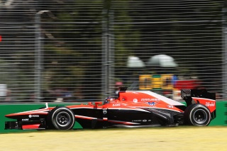 © Marussia - Bianchi content de sa monoplace à Shanghai