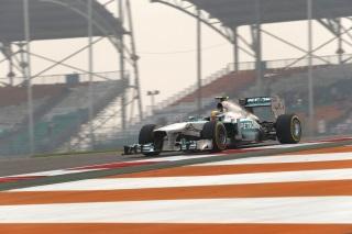 © Mercedes - Hamilton a eu du mal en Inde jusqu'à présent