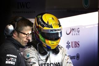 © Mercedes - Journée chargée pour Hamilton au volant de la F1 W04