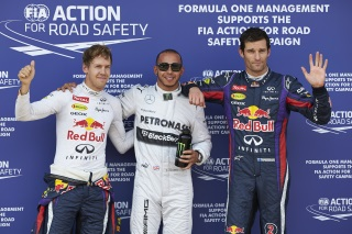 © Mercedes - Hamilton signe la pole devant Vettel et Webber à Spa