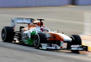 © Sahara Force India - Paul di Resta a abandonné à sept tours de la fin