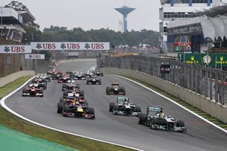 © Mercedes - Rosberg avait abordé lé premier virage en tête en 2013
