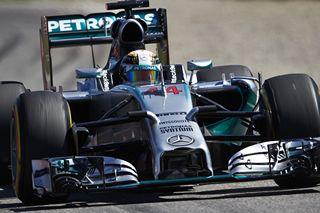 © Mercedes - Hamilton devance Rosberg de deuxièmes
