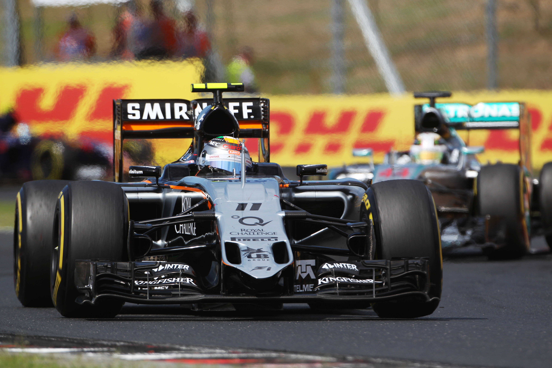 © Sahara Force India - Course mouvementée pour Sergio Perez en Hongrie
