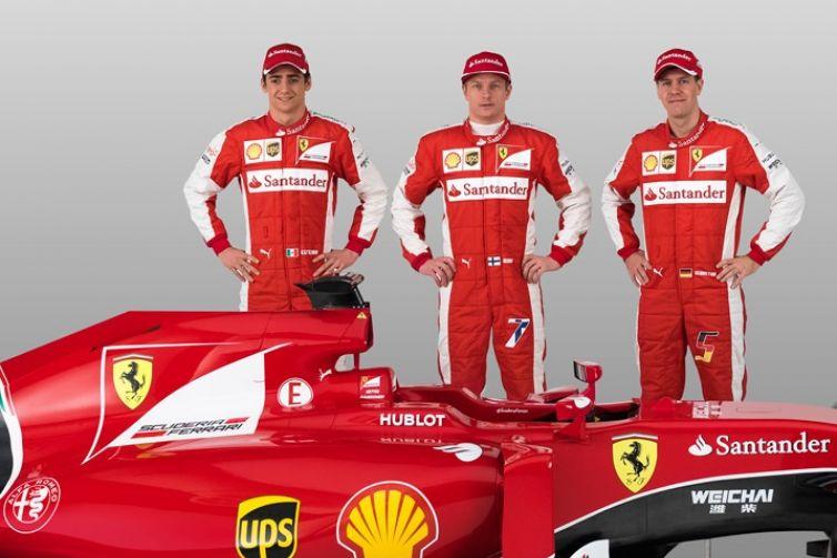 © Ferrari - Les pilotes Ferrari derrière la nouvelle née