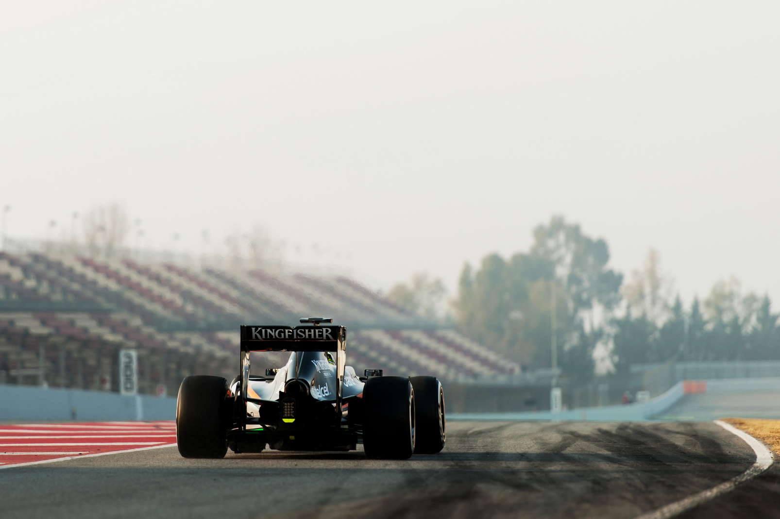 La VJM07 qui roulait la semaine passée à Barcelone