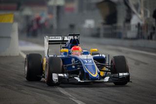Felipe Nasr ce matin au volant de la Sauber