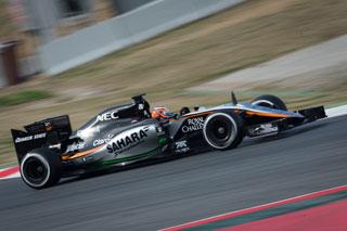 La voiture la plus attendue aujourd'hui était cette Force India VJM08