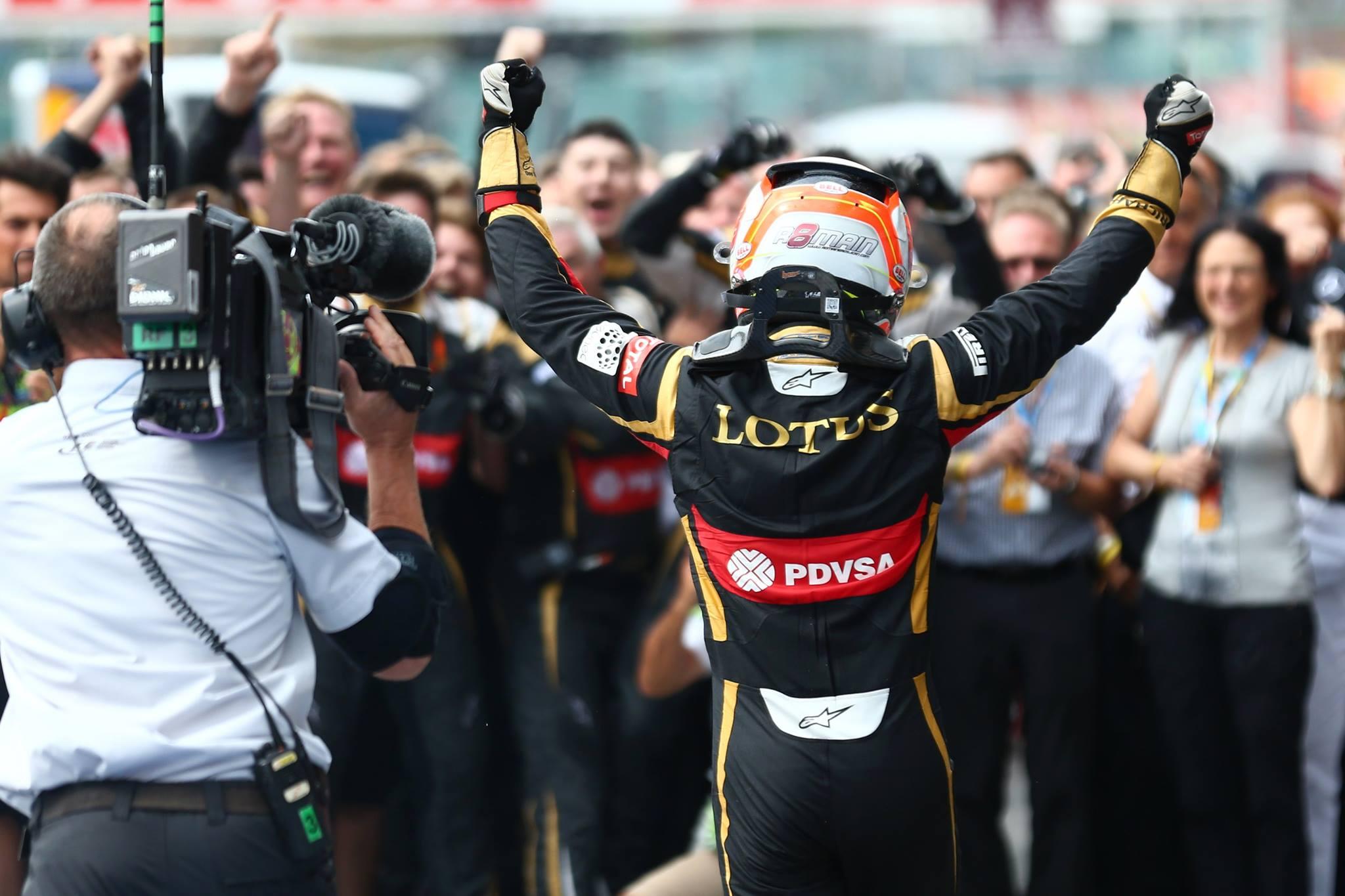 Belle surprise pour Lotus: Romain Grosjean retrouve les joies du podium !