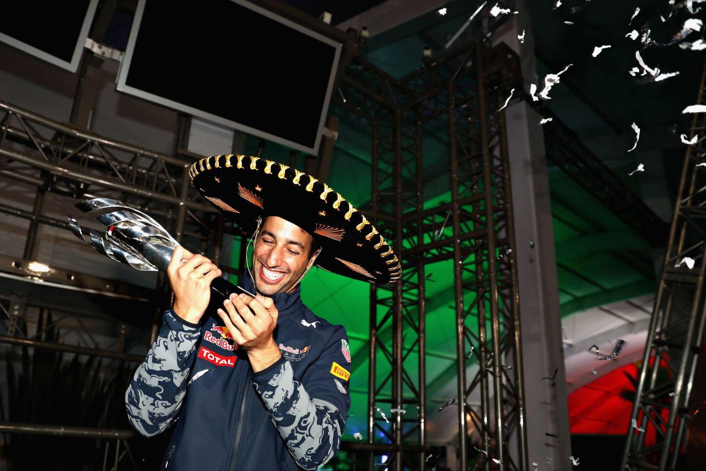 Daniel Ricciardo a finalement récupéré le trophée du 3ème au Mexique