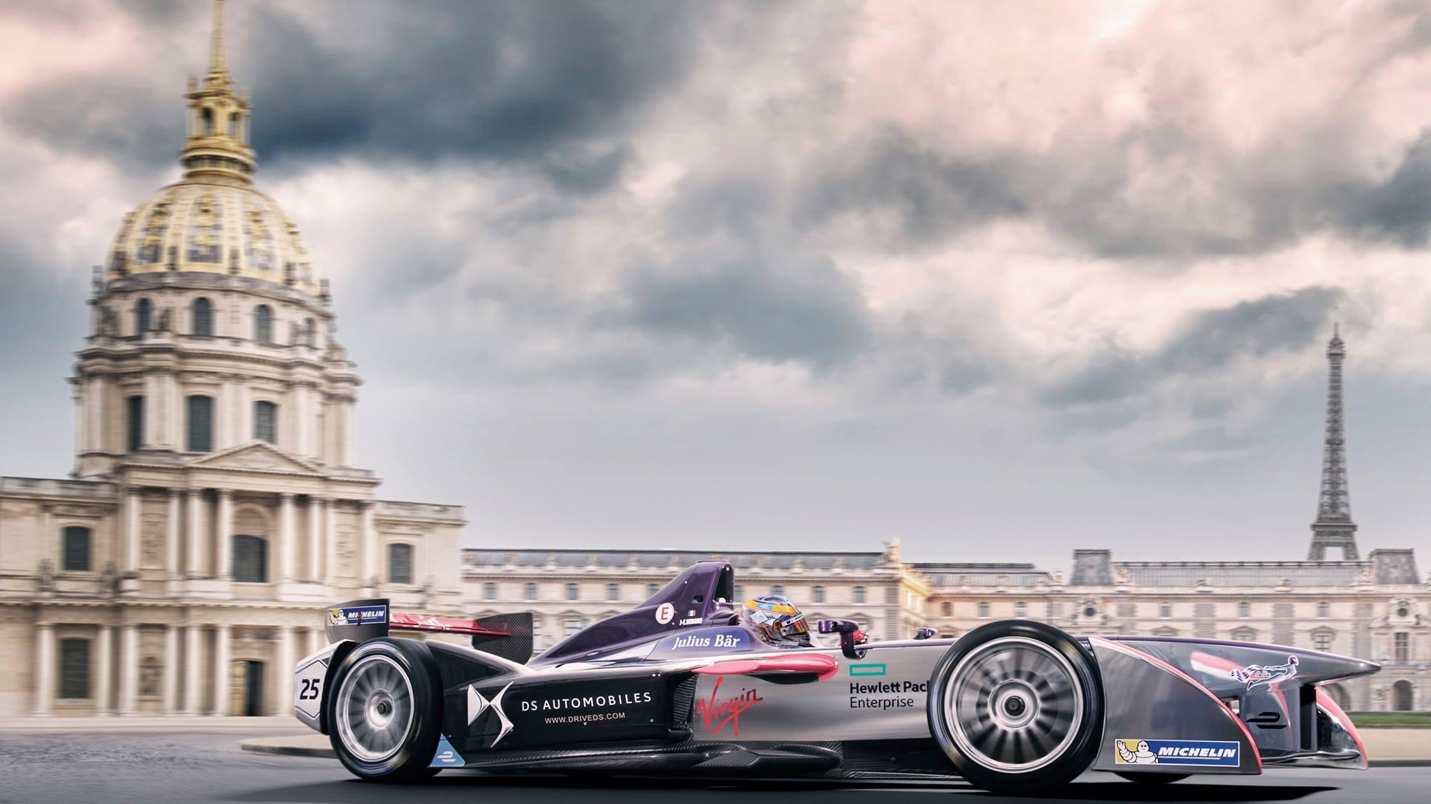 © DS Virgin Racing Formula E Team - Le dôme des Invalides et la Tour Eiffel feront office d'un décor majestueux ce samedi pour l'ePrix de Paris !