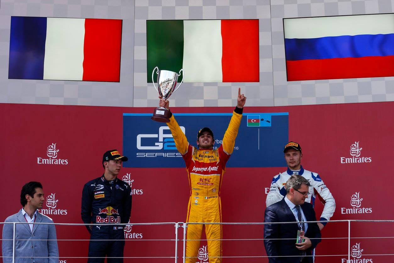 © GP2 Series - Un week-end sensationnel pour Giovinazzi : une pole et deux victoires !