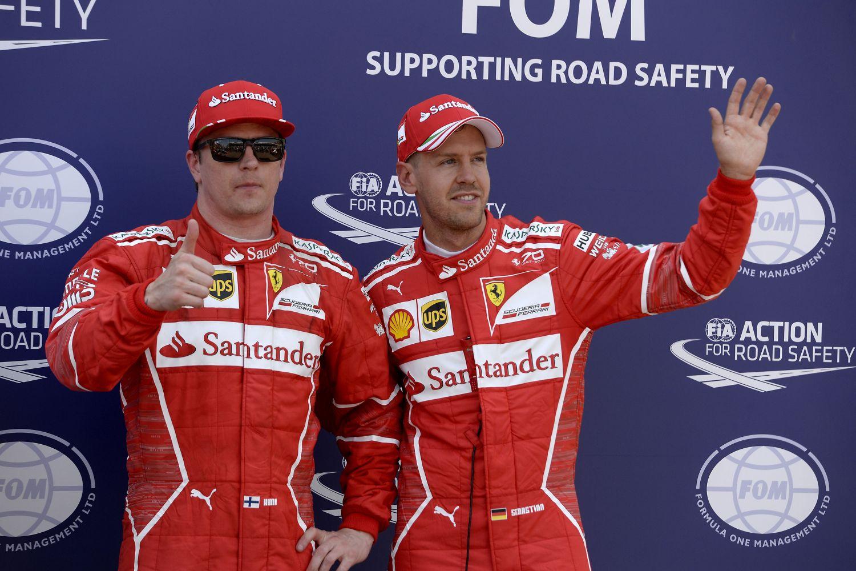 © Ferrari - Vettel et Raikkonen sécurisent la première ligne