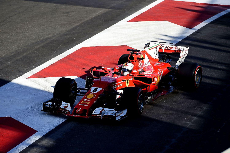 © Ferrari - Ombre et lumière pour Sebastian Vettel à Bakou
