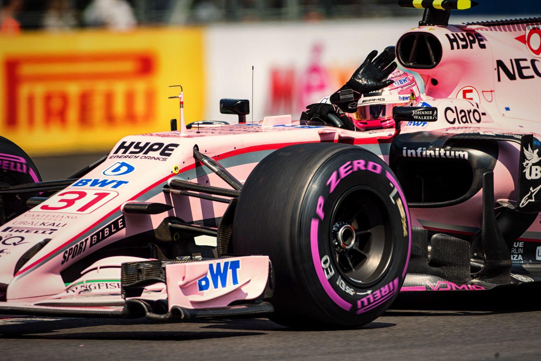 © Force India - Esteban Ocon peut saluer la foule mexicaine