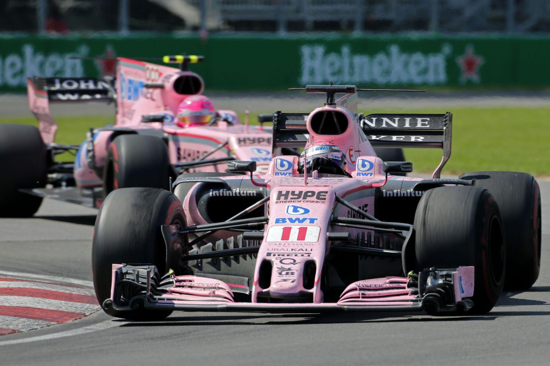 © Sahara Force India - Les deux pilotes ne se sont pas lâchés de la course