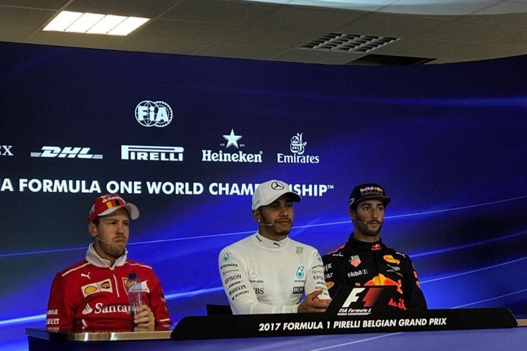 Malgré une pointe de déception pour Vettel, les trois hommes sont contents de l'issue de la course