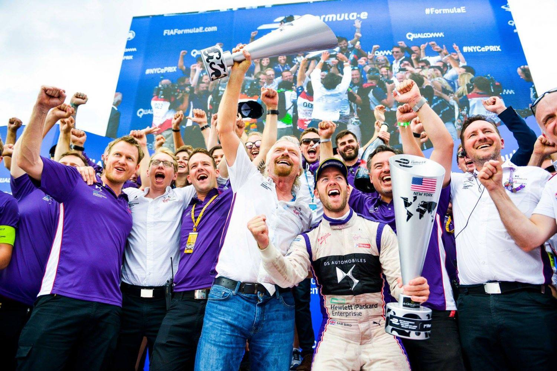 © DS Virgin Racing - Le rêve américain pour Sam Bird et Sir Richard Branson !